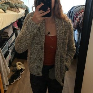 thick cardigan sweater